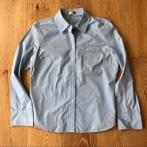 J crew blue button down in large